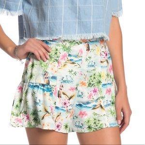 NWT SMYM Skippy High Waist Shorts Hawaiian M